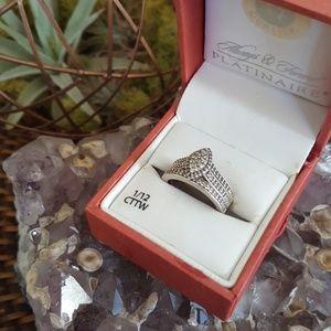 Vintage 1/2 Carat Diamond Wedding Ring Set